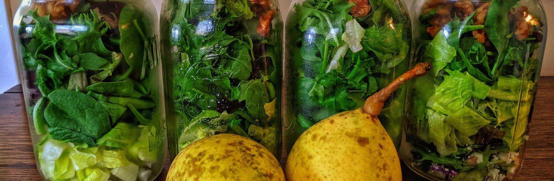 Pear Walnut Salad Prep