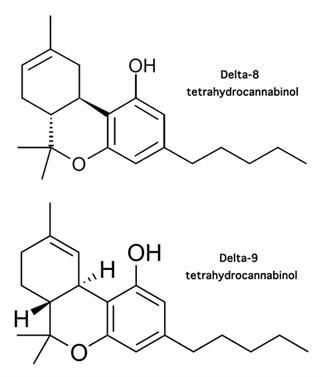 Delta-8 vs. Delta-9 Molecular Structures