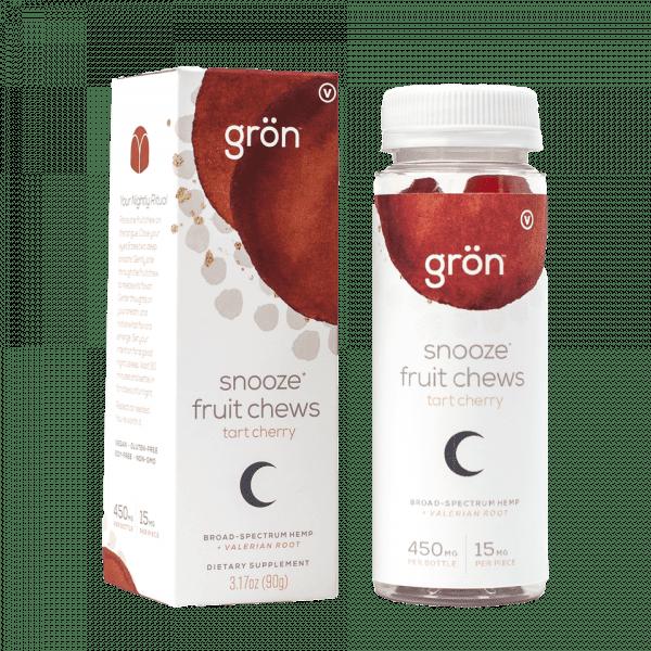 Broad Spectrum CBD Snooze Fruit Chews: Tart Cherry - 450mg