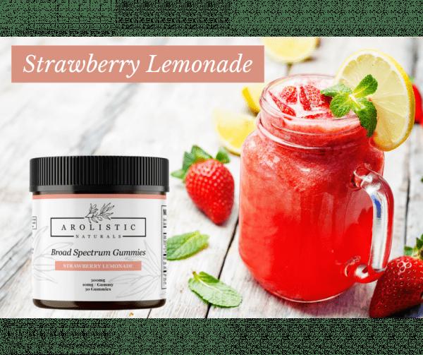 Broad Spectrum Hemp Gummies - Strawberry Lemonade Image